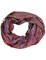 Ganesh Handicrafts Women's Silk Shawl (GH091, Red)