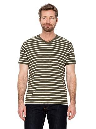 Cortefiel Camiseta Rayas (Caqui)
