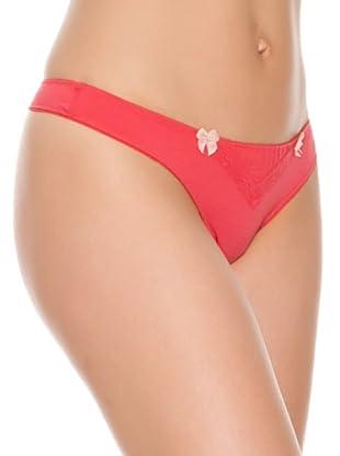 Women secret Braga Tanga Tira Cotton (Rojo)