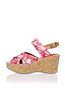 Rockport Women's Haylyn Band Wedge Sandal (Red)