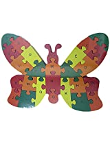 Wooden Butterfly Puzzle Toy with A-Z English Alphabet and Numbers Puzzle For Kids