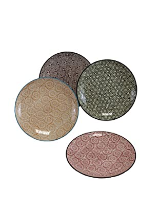 Set of 4 Assorted Patterned Plates
