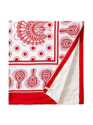Nomadic Thread Swahili Towel, Pink/White