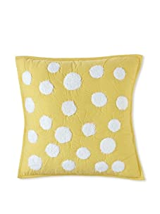 Amity Home Dots Pillow (Yellow)