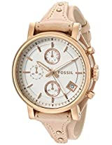 Fossil Womens ES3748 Original Boyfriend Rose Gold-Tone Stainless Steel Watch with Leather Band