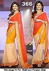 Shilpa Setty In Orange Saree Of Sabyasachi Saree