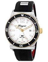 Salvatore Ferragamo Mens FF3110014 FERRAGAMO 1898 SPORT Analog Display Swiss Quartz Black Watch