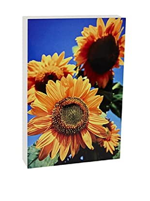 Art Block Sunflowers - Fine Art Photography On Lacquered Wood Blocks