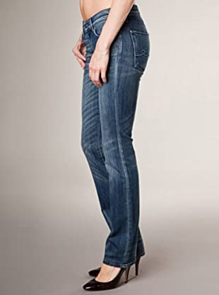 7 for all Mankind 5-Pocket Jeans Hidd Ricinus Straight Leg (Blau Denim)