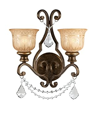 Swarovski Chandeliers by Gold Coast Lighting Cameron Wall Sconce, Bronze Umber