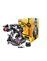 TurboZ TT661A Remote Control Changing Robot Car, Black