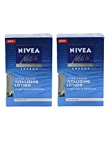 Nivea For Men After Shave Vitalizing Lotion (Pack of 2) 100 ml