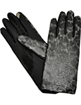 ISO Isotoner Women's Stretch Leathers Smartouch Gloves Leopard Med- Large