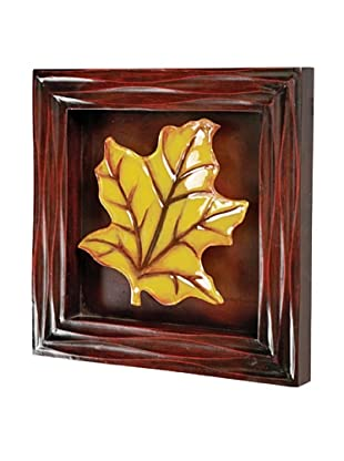 Maple Leaf Wall Art, Amber/Brown
