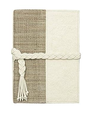 Marina Vaptzarov Small Vegetal Leather & Nettle Fabric Sketchbook, White