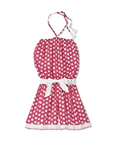 4EverPrincess Girl's Leo Overall (Pink/White Polka Dot)
