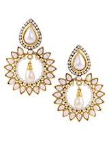 Ethnic Indian Artisan Jewelry Set Pretty Dangler EarringsBHEA0026WH