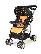 LuvLap 18104 Baby Stroller Sports (Black/Orange)