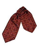 ERA1B05C Brown Paisley Fitted Accessories Cravat Woven Microfiber Handmade Family Mens Ascot By Epoint