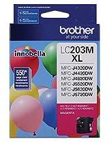 Brother Printer LC203M High Yield Ink Cartridge, Magenta