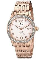Burgi Women's BUR102RG Analog Display Japanese Quartz Rose Gold Watch