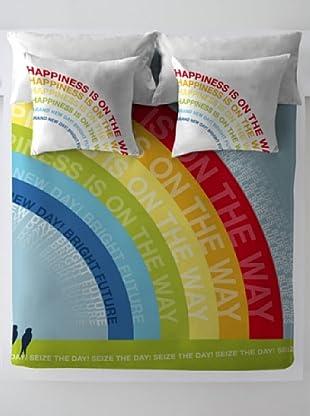 Wild About Words Juego de Funda Nórdica Rainbow (Multicolor)
