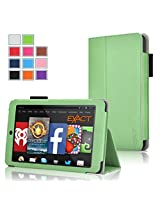 Fire HD 6 Case - Exact Amazon Kindle Fire HD 6 Case [PRO Series] - Premium PU Leather Folio Case for Amazon Kindle Fire HD 6 (2014) Green