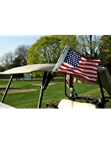 Flagpole To Go Portable Golf Cart 28-Inch Flagpole With US Flag