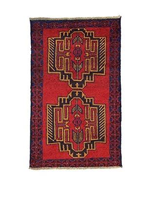 Eden Teppich Beluchistan rot/blau 85 x 138 cm