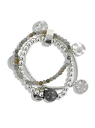 Frou Frou Bijoux Bracciale silver/ grigio
