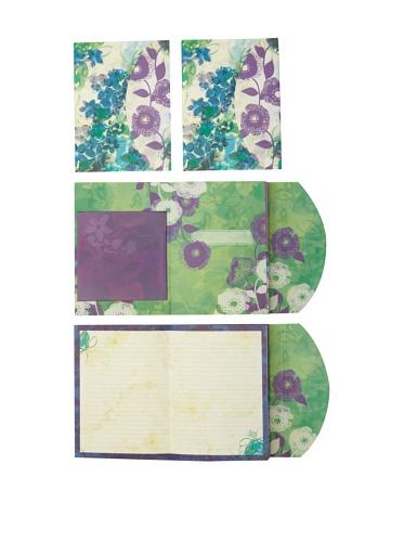 Mudlark Set of 4 Journals, Purple/Green