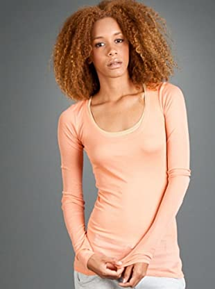 Américan Vintage Camiseta Massachussets (naranja)