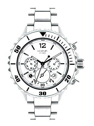 K&BROS 9150-2 / Reloj de Señora  con brazalete metálico blanco