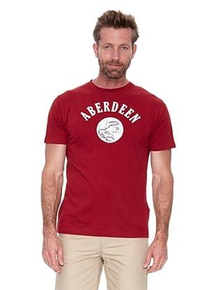 Cortefiel Camiseta Gráfica (Granate)