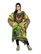 7 Colors Lifestyle Women Georgette Kurta (Aak7002Kfv1M _Multi-Coloured _Medium)
