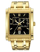 Orinet Classic AutomaticMen Black Dial Gold Metal Strap Sqare Shape, Made in Japan