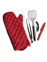 Char-Broil 9689503 5-Piece Grilling Glove and Utensil Set