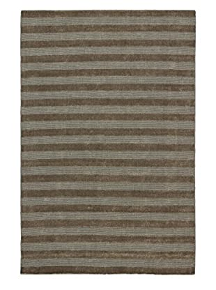 eCarpet Gallery One-of-a-Kind Hand-Knotted Luribaft Gabbeh Riz Rug, Khaki, 5' 2