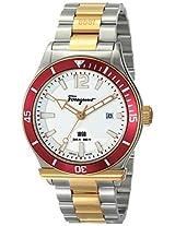 Salvatore Ferragamo Mens FF3140014 FERRAGAMO 1898 SPORT Analog Display Quartz Two Tone Watch