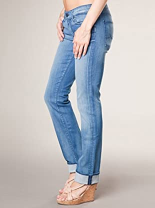 7 for all Mankind 5-Pocket Jeans Azul Straight Leg (Blau Denim)