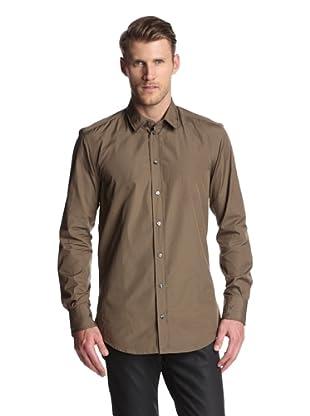 Dolce & Gabbana Men's Slim Fit Solid Dress Shirt (Dark Brown)