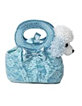 Aurora World Fancy Pals Plush Toy Pet Carrier, Aqua Lacey