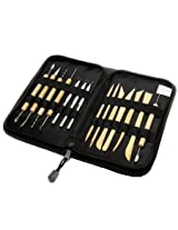 14 Piece pottery tool set in convient carry and storage case - by Kurtzy TM