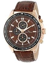 Lucien Piccard Men's LP-12552-RG-04-BR Cartagena Analog Display Japanese Quartz Brown Watch