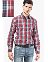 Red Check Slim Fit Casual Shirt Wrangler