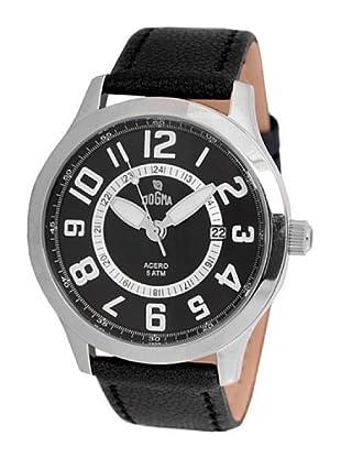 Dogma G7030 - Reloj de Caballero movimiento de quarzo con correa de piel negro