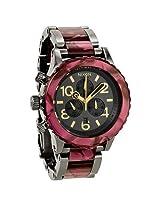 Nixon 48-20 Chronograph Gunmetal Velvet Unisex Watch - Nxa0371345
