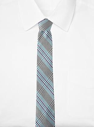 Ben Sherman Men's Ashton Plaid Tie (Aqua)