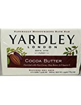 Yardley London Cocoa Butter Bar Soap, 120 G 2 Pk Bars (Pack of 4) 8 Bars Total