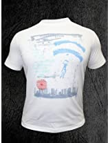 Peter England White T-Shirt